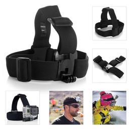 $enCountryForm.capitalKeyWord Canada - gopro hero 3 Elastic Adjustable Head Strap Mount For Go pro Hero 4 3 2 Cameras Accessories with anti-slide glue like original