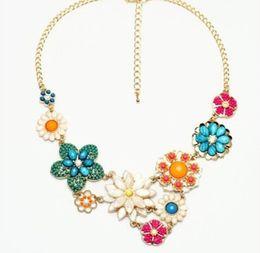 $enCountryForm.capitalKeyWord UK - Hot Sale Vintage Elegant Flower Necklace Charm Beads Dangle Chocker Bib Statement Necklaces Jewelry for Women and Girls Christmas Gifts