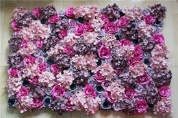Decoration flower oil painting online shopping - Mixed color oil painting Artificial silk rose flower wall wedding background lawn pillar road lead market decoration