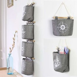 $enCountryForm.capitalKeyWord Canada - 2016 Fashion Home Decor New Cotton Linen Navy Style Grey Wall Hanging Storage Organizer Hanger Bag
