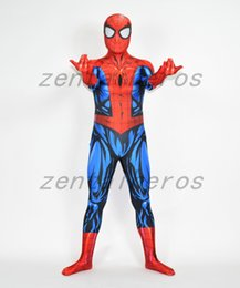 Wholesale custom made costume movie online – ideas 3D Printed Ultimate Spiderman Costume Lycra spandex Cosplay Halloween Party Cosplay Zentai Suit