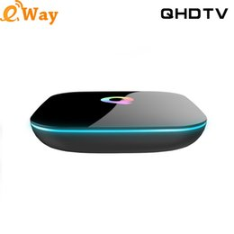 Arabic Iptv Android Tv Box Canada - French IPTV 1 Year QHDTV Q Box Belgium Netherlands Italy Europe Arabic IPTV S905X Quad Core 2G 16G Android 6.0 TV Box