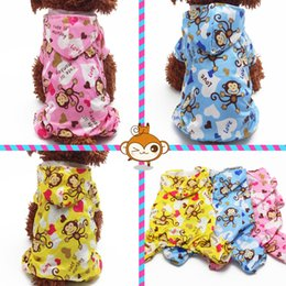 Beaux Imperméables Pas Cher-Lovely Cartoon imprimé Pet Rain vêtements Dog Puppy Imperméable imperméable Hoodie Jumpsuit Rain Jacket
