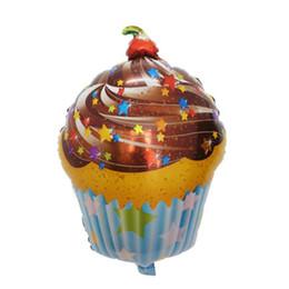 $enCountryForm.capitalKeyWord UK - 50pcs lot Chocolate Cherry Star Print Sweet Cake Shape Foil Balloons Birthday Party Decoration Balloons Children's Toys