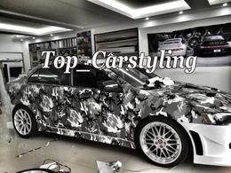 $enCountryForm.capitalKeyWord NZ - New Winter Black white grey Camouflage wrap Film winter Camo Wrapping Vinyl Foil With Bubble Free Truck Body foil Sticker size 1.52x30m Roll