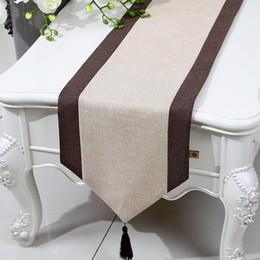 linen cloths NZ - Latest Patchwork Rustic Table Runner Chinese style Cotton Linen Modern Tea Table Cloth Rectangle Dining Table Protective Mats 200x33 cm
