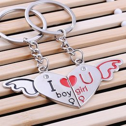 $enCountryForm.capitalKeyWord Canada - FREE SHIPPING BY DHL 200pairs lot 2015 New Zinc Alloy I Love You Keychains Novelty Keyrings for Lovers