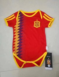 c7e3abd89 2018 BABY Soccer Jersey Mexico Spain Argentina colombia Sweden RUSSIA  Belgium YOUTH Jumpsuit baby 1 - 2 years BOYS GIRLS football jerseys