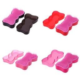 $enCountryForm.capitalKeyWord Australia - 1pc Hair Scalp Massage Comb Hairbrush Lovely Butterfly Shape Women Wet Curly Detangle Hair Brush for Salon Hairdressing Styling