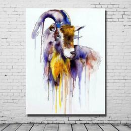 $enCountryForm.capitalKeyWord Canada - 2016 new design animal subjects cartoon animal deer oil painting free shipping nice designer home deocr