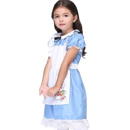 Cosplay Cosplay D'alice Alice Pas Cher-performance colthing cartoon Costume cosplay Halloween anime costume princesse robe jupe enfants effectuer jupe de danse Alice au pays des merveilles