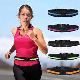 Waterproofing Iphone For Running NZ - NEW Waist bag Casual Waist Pack Sport bag Waterproof Running Bags Purse Mobile Phone Case for SAMSUNG IPHONE pocket free shipping