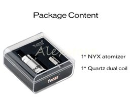 China 100% Original Yocan NYX Atomizer Vapor Dry Herb Wax Pure Metal Vaporizer with Quartz Dual Coil Bottom Airflow Control Fit Box Mod DHL suppliers