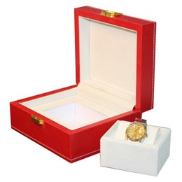 $enCountryForm.capitalKeyWord UK - Luxury big 20x17.2x9.5cm red leather watch box display case Jewelry hour box display box promotion, May customize cajas regalo para relojes