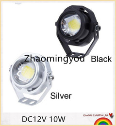 car daytime cree UK - DHL Free shipping 10PCS DC12V 10W Led Spotlight Waterproof IP67 White Warm for car light Eagle Eye Car Fog daytime running lights