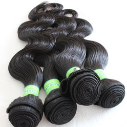 Human Hair Extensions Delivery Canada - Fast Delivery 8A Brazilian Human Hair Weave natural Color Body Wave 10-28inch 4bundles lot Unprocessed Brazilian Hair Weft Extensions