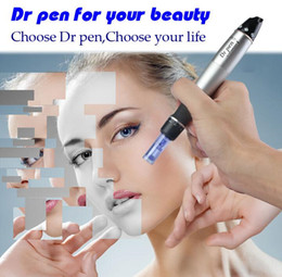 pen microneedle therapy UK - Handheld Auto Microneedle Therapy System Electric Dermapen Auto Electronic Derma Pen for Salon and Home Use