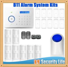 Gsm Pstn Dual Alarm NZ - Hot selling Chuango B11 Dual network PSTN and GSM burglar Security Alarm System P445kit