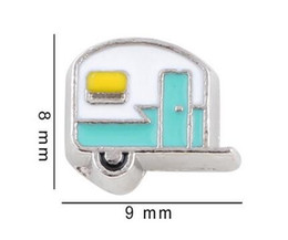 Discount house cars - 20PCS lot Car House Alloy Floating Locket Charms Fit For DIY Magnetic Glass Living Memory Locket Fashion Jewelrys