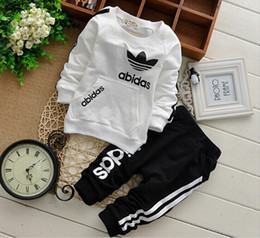 Kids Brand Clothes Sports Australia - Brand Baby Boy Clothing Suits Autumn Casual Baby Girl Clothes Sets Children Suit Sweatshirts+Sports pants Spring Kids Set