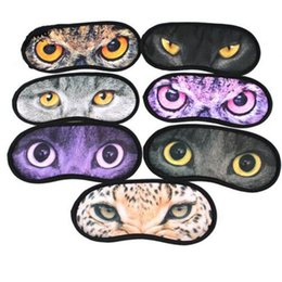 Patchs Mignons Pas Cher-1200 Cartoon Meow Star Eyehade 3D Voyage sommeil masque d'oeil mignon animal chat sommeil repose-pieds Masque d'oeil Ombre Nap Couverture Blindfold Ombre