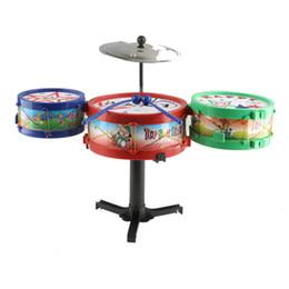Children Toy Musical Instruments Canada - Hot sales Children Musical Instruments Toy Kids Drum Kit Set Colorful Plastic Drum