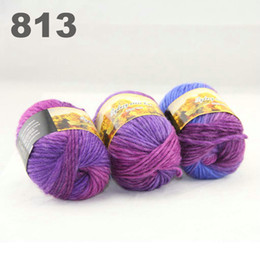 $enCountryForm.capitalKeyWord Canada - colorful hand-knitted wool line segment dyed coarse lines fancy knitting hats scarves thick line Blue lilac Pale Pink 522-813