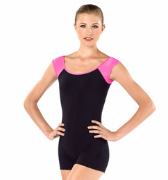 47dd6874f259 Wholesale-Adult Short Sleeve Unitard Women Shorts Unitard Bodysuit Womens  Leotard for Gymnastics Leotard Women Dance Black Leotard Unitard