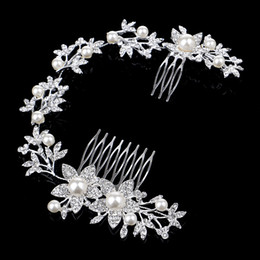$enCountryForm.capitalKeyWord NZ - 2016 New Rhinestone Bridal Headpiece Headband Hairhead Hair Comb Pearl Hairpiece Wedding Hair Accessories Tiara Evening Prom Handmade Fashio