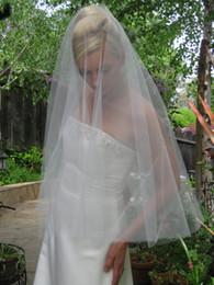 Tulle Head Bridal UK - Top Quality Best Sale Cheap Fashion Designer Wedding veil Cut Edge Veil Elbow White Ivory Bridal Head Pieces