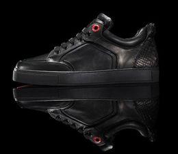 e53101ee898 2016 new male flats Famous brand royaums men shoes black and white color  low top Metal decorative laceplatform shoes Size 36-47