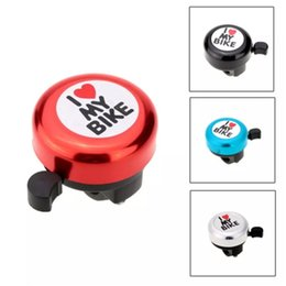 bicycles for children Australia - Funny Cute I Love My Bike Printed Bicycle Bell Bicycle Accessories Bike Alarm Warning Ring Bell for Children bicicleta a39-a46