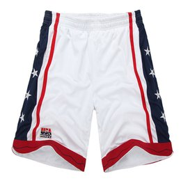 Wholesale loose jersey resale online - NEW summer Brand Usa american basketball shorts training sports mens gym running team hip hop double layer sports shorts baggy men