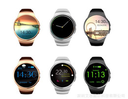 xiaomi gps NZ - KW18 MTK2502C Bluetooth Smart Watch Connected WristWatch for Samsung HTC Huawei LG Xiaomi Android Smartphones Support Sync Call Messager DHL