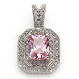 pink products Australia - Copper Rhodium Plated Recommend Pendants Pink Cubic Zirconia Noble Generous MN3240 Rave reviews Best Sellers Promotion The new product Rock
