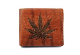 China 3pcs Mens High Quality Leather leaves Wallet Pockets Card open Clutch Cente Bifold Purse Vintage simple short man purse for men bestgift suppliers