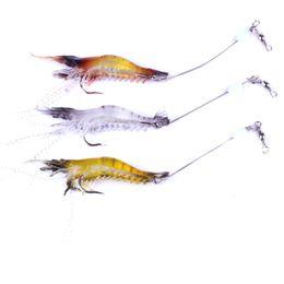 Chinese  3PCS Luminous Shrimp Soft Lure 9cm 6g Fishing Artificial Bait with Glow Hook Swivels Anzois Para Pesca Sabiki Rigs Prawn Fishing Lure manufacturers