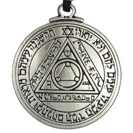 Chinese  New Punk Amulet Pendant Necklace Sun Talisman Key of Solomon Seal Pendant Necklace Hermetic Enochian Kabbalah Pagan Wiccan Jewelry manufacturers