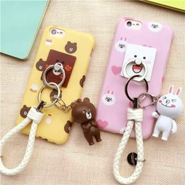 $enCountryForm.capitalKeyWord Canada - Cute cartoon little bear Pendant Pink white rabbit Yellow plastic case cover for Apple iphone 6 6s plus fashion cool bear ring