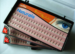 flare false eyelashes NZ - Navina False Eyelashes D-Lash Naturals Hair Individual Lashes Extensions Professional Makeup Cosmetic Fake Eyelash Flare Black 8mm 10mm 12mm