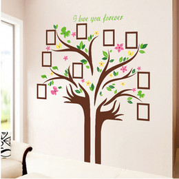 $enCountryForm.capitalKeyWord NZ - Large Size Family Photo Frames Love Tree Wall Stickers DIY Home Decoration Wall Decals Modern Art Murals for Living Room