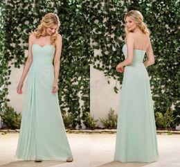 1b7a3893b17e 2019 Mint Green Cheap Bridesmaid Dresses Sweetheart Sleeveless A Line  Simply Long Floor Length Junior Bridesmaid DressesB183053