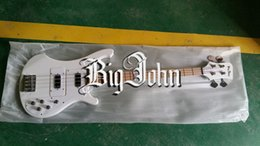 Two Basses Canada - free shipping new 4 string white color chrome hardware two pcs pickup electric bass F-3003