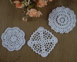$enCountryForm.capitalKeyWord Canada - 30pcs 8-13cm Crocheted Doilies Placemats for Wedding Crochet applique decor White Cup Mat Tablecloth mats Vintage Coaster Pads Disc aa3h23
