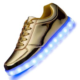 neon shoes for women 2018 - Colorful LED Shoes for Adults Men & Women USB Charging Light up Glowing Casual Shoes Colorful Simulation Luminous Neon B