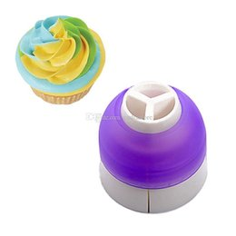 Cake Piping Tools Nozzles Canada - 3Color Cake Decorating Tools Icing Piping Cream Pastry Bag Nozzle Converter E00257 SMAD