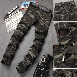 d36b3471f1aa8 Cool Ripped Side Zipper Jeans Fashion Men Skinny Distressed Slim Brand  Designer Biker Hip Hop Swag Tyga Slim Jeans Kanye West size 28-38