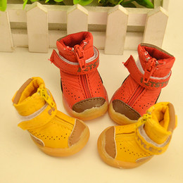 Male Shoes For Sale NZ - New Cheap Small Medium Pet Sport Waterproof Shoe Rubber Sole + Leather Vamp Decoration Shoe For Pets Dogs Hot Sale