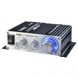 DHL 10 шт. автомобиль Lepy LP-V3S усилитель Привет-Fi цифровой V3 USB FM стерео супер бас аудио усилитель мощности автомобиля 2 канала усилитель