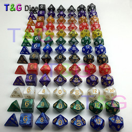 Wholesale dragon customs for sale – custom 7pc dice set High quality Multi Sided Dice with marble effect D4D6 D8 D10 D10 D12D20 DUNGEON and DRAGONS D d rpg custom dice